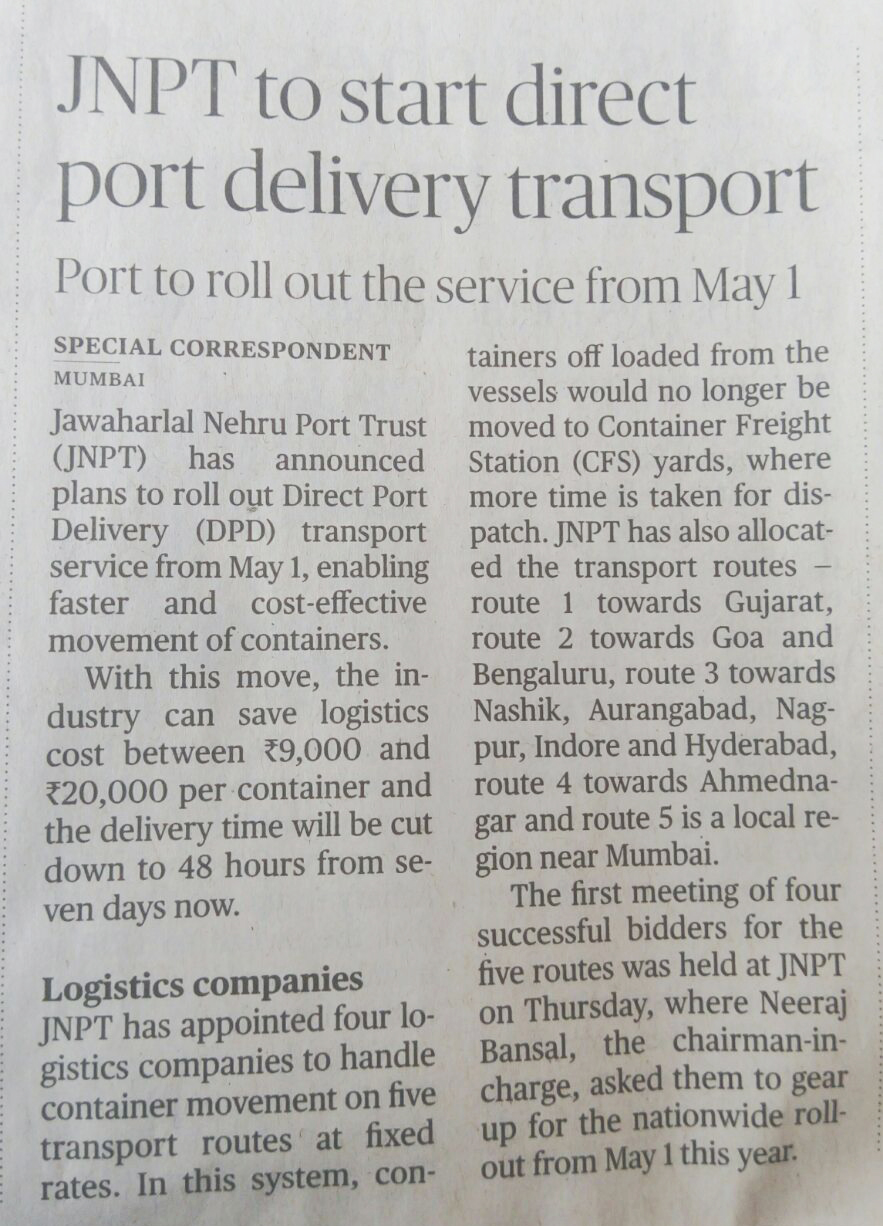 port delivery transport